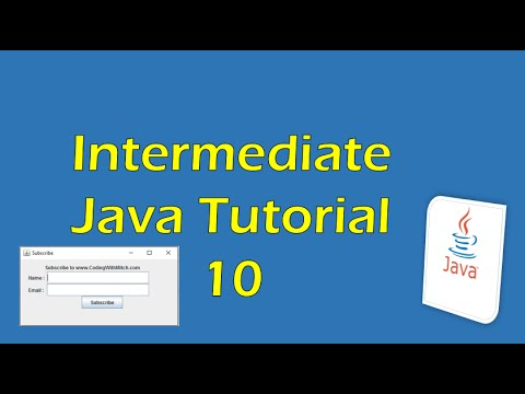 Intermediate Java Tutorial 10 (Eclipse): Creating a pop-up window with JFrames