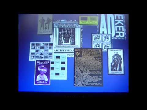 Artist Stamp Video The Mothers of Mail Art A D Eker 2014