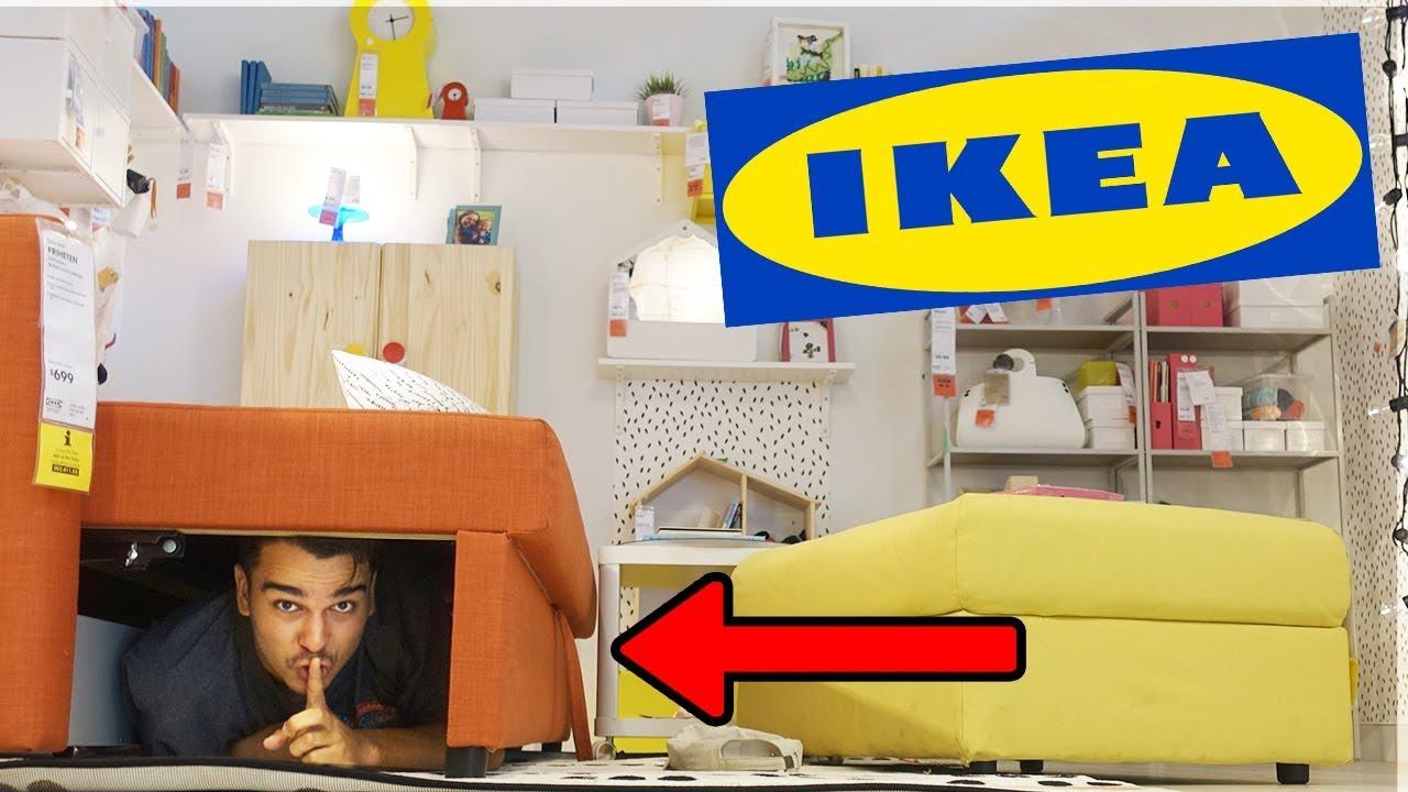 hide and seek inside ikea best hiding spot ever youtube. Black Bedroom Furniture Sets. Home Design Ideas