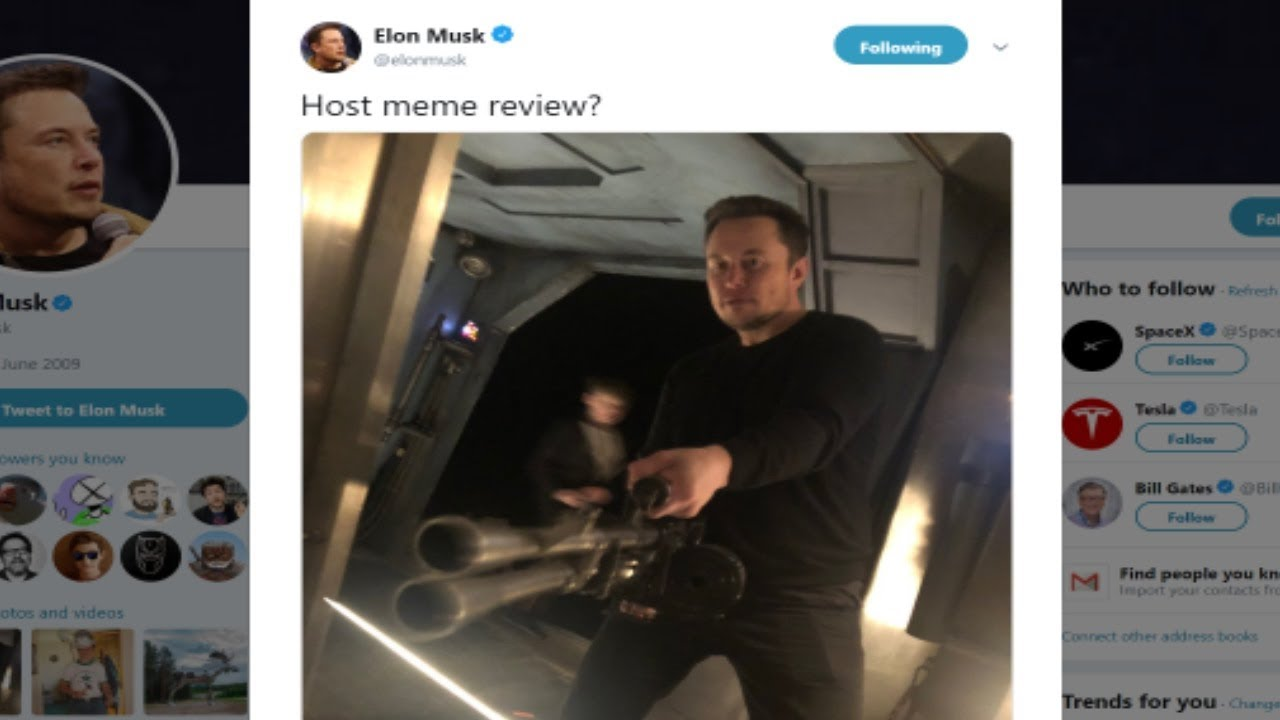 Elon Musk Hosts Meme Review with Pewdiepie? - YouTube