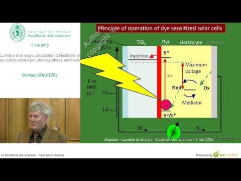 Conférence - M  GRAETZEL - Lumière et énergie, production d'électricité et de combustibles...