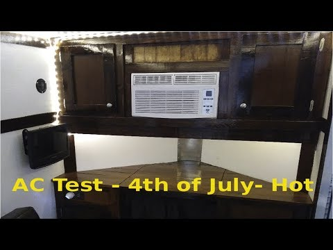 part-6---5x8-cargo-trailer-camper-conversion---ac--test--4th-of-july