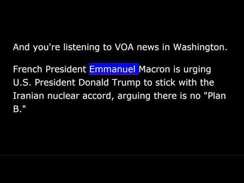 VOA news for Monday, April 23rd,  2018