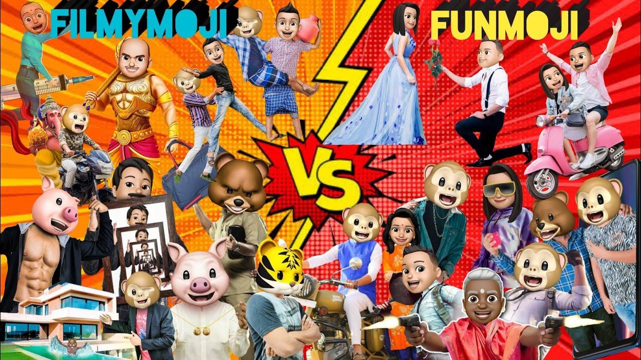 Download Filmymoji VS Funmoji    Madhu vs Manu,Mahesh vs Mukesh     Comparison    #filmymoji #funmoji