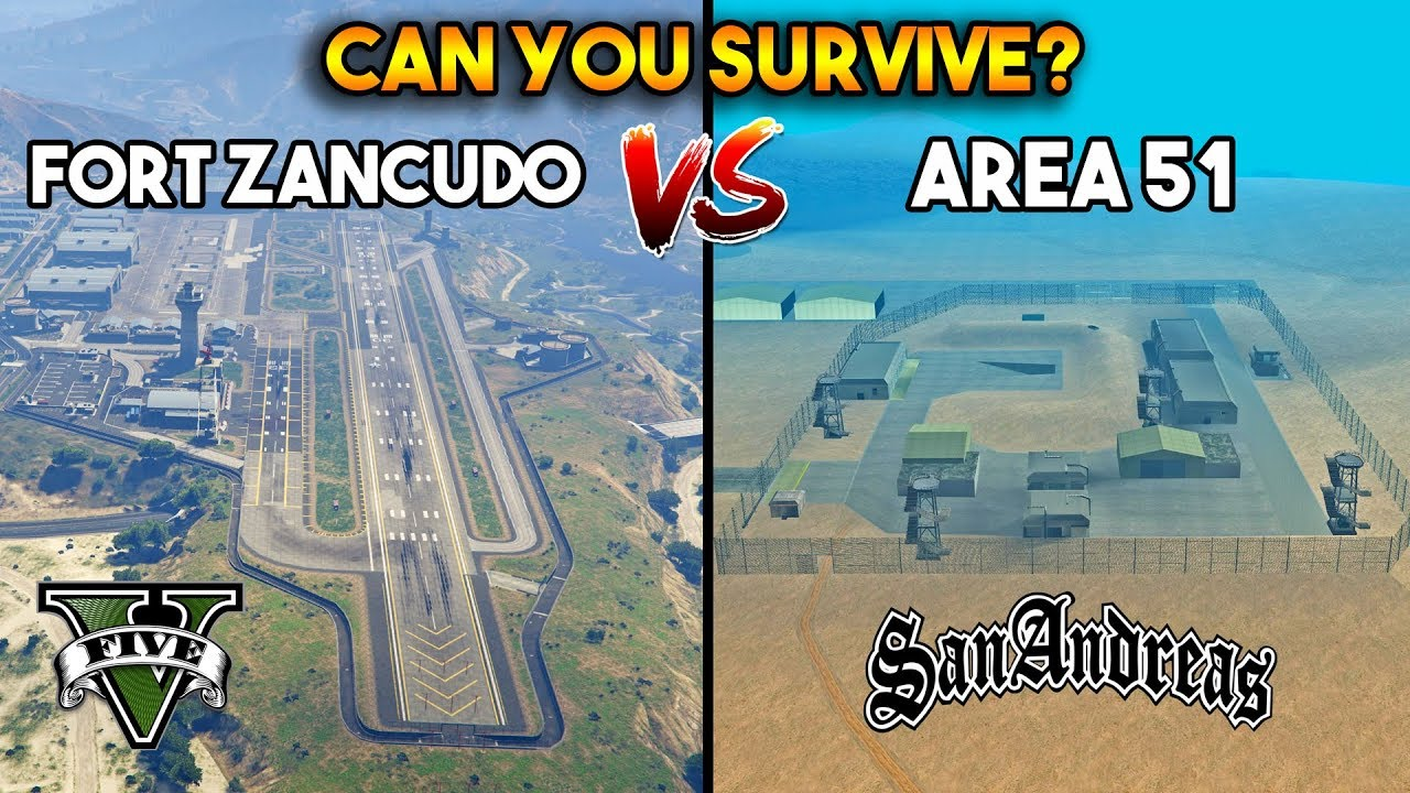 area 51 gta san andreas location