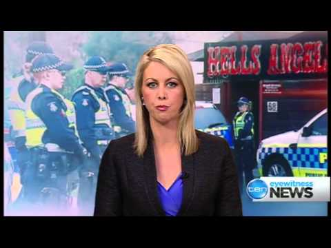 Ten Eyewitness News Melbourne - 2013 Hells Angels Bikie Raids: Opener  [10 10 13]