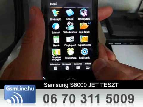 SAMSUNG S8000 JET Teszt | www.GsmLine.hu