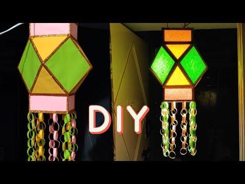 Akash Kandil making at home for Diwali | Diwali Decoration Ideas | DIY | Diwali lantern making