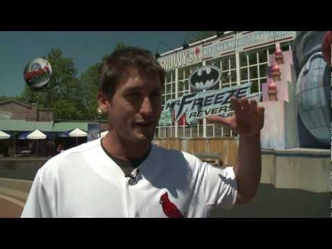 David Freese on MR. FREEZE: Reverse Blast at Six Flags St. Louis