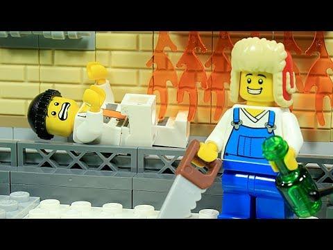 Lego Brick Building - Experimental Pizza Restaurant -  Inspirational DIY Satisfaction Animation