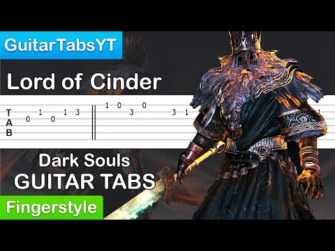 Dark Souls   Gwyn Lord of Cinder Guitar Tutorial TABS Fingerstyle