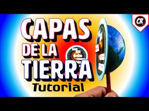 MAQUETA CAPAS DE LA TIERRA | Tutorial paso a paso