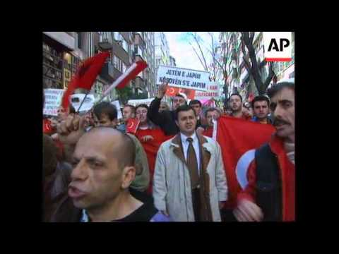 Turkey - Pro-Albanian protest