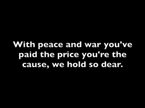 Thank you soldiers lyric video