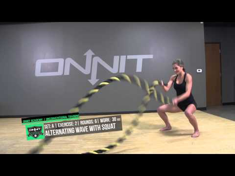 Fat Burning Battle Ropes HIIT Workout