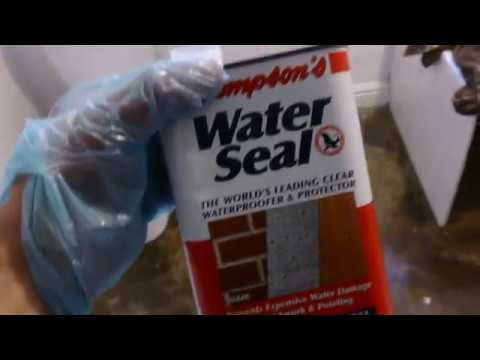 Thompsons Water Seal Sealing A Concrete