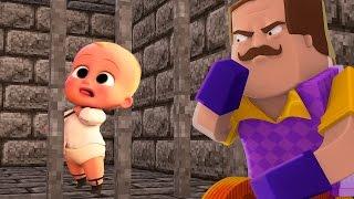 PODEROSO CHEFINHO FOI PEGO PELO VIZINHO! (HELLO NEIGHBOR BOSS BABY MINECRAFT)