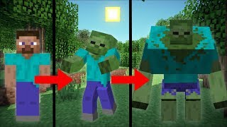 ZOMBIES LIFE IN MINECRAFT FROM LIFE TO DEATH !! Brain Secrets !!