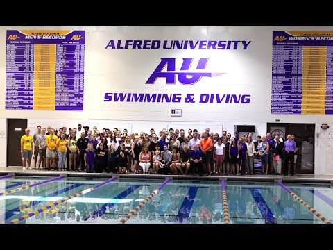 Alfred University Swimming and Diving Record Board Unveiling 09.23.17