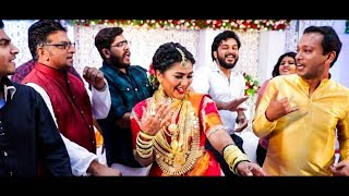 ജഗതിയുടെ പാട്ടിനു താളംവച്ച് മകൾ ശ്രീലക്ഷ്മി  Sreelakshmi wedding reception Jagathy Sreekumar