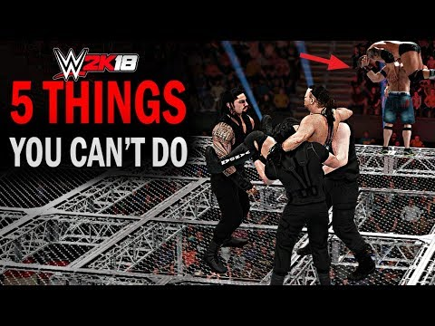 WWE 2K18 - 5 Things You Can't Do! #2 (AA From Chamber, Shield Power Bomb on HIAC, Stage Spear &More)