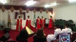 Young minister slain in the spirit during Praise dance Apostolic Triumphant Church International TX