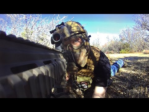 Airsoft Stealth Hunter: Elite Force M27 IAR (War Of Angels Gameplay/Commentary)