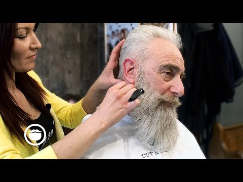 Old School Men's Haircut with Big Beard Trim | Cut & Grind