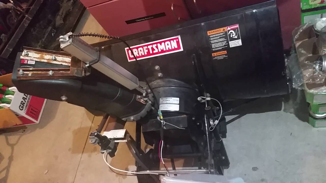 small resolution of  john deere 1330 se automated craftsman snowblower head with electric actuator power