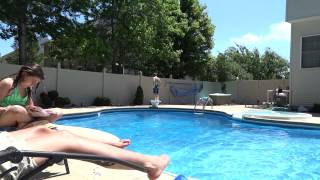 matt dancing to party rock anthem by the pool