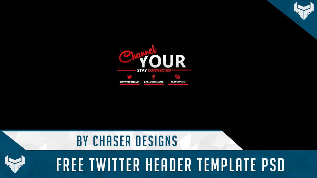 Free Gfx Free Twitter Header Template 2d Psd 2014 Youtube