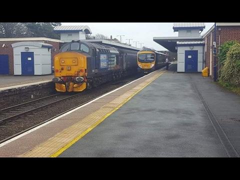 Trains at Barrow in Furness Cumbrian Coast Line + Furness Line 17/2/17