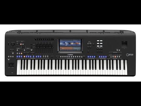 Genos Yamaha Digital music station Full demos part one.