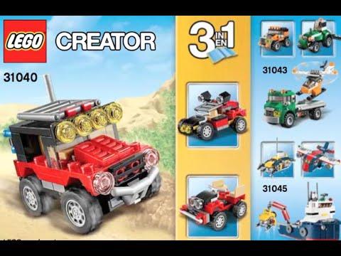 How To Build Lego Creator Desert Racers Set 31040 Instructions