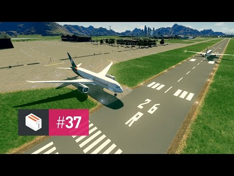 Let's Design Cities Skylines — EP 37 — Runway Markings at Cedar Valley Airport