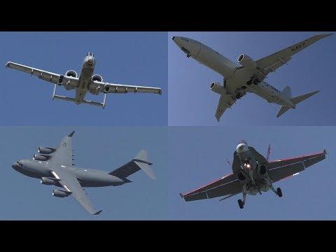 Lethbridge International Air Show 2017 Arrivals   C-5M, C-17, E-6B, A-10, and More! ᴴᴰ