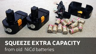 DIY: Squeeze Extra Capacity From Old NiCd Batteries