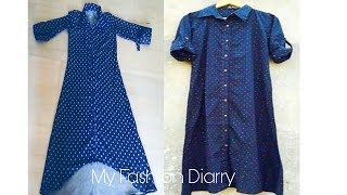 How to make shirt style kurti | DIY|