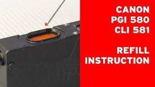 How to refill Caฑon PGI-580, PGI-280, CLI-581, CLI-281 cartridges and deactivate ink level ?