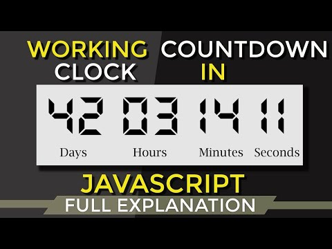 CountDown Timer using JavaScript : CountDown Clock using HTML and JavaScript [2018]