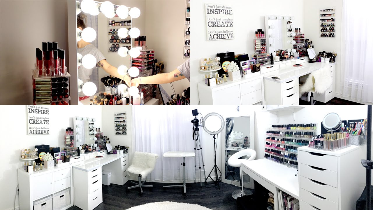 Makeup Room & Filming Set Up || EXCITING NEWS!! - YouTube on Makeup Room Design  id=49272