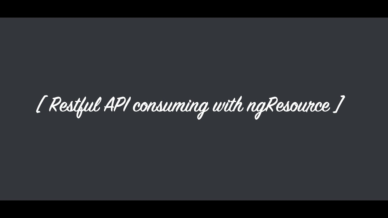 how to improve your rest calls in angular with ngresource youtube