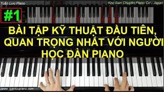 ✅ #1 | Bài Kỹ Thuật Đầu Tiên Quan Trọng Nhất Khi Học Piano | Tuấn Lưu Piano |