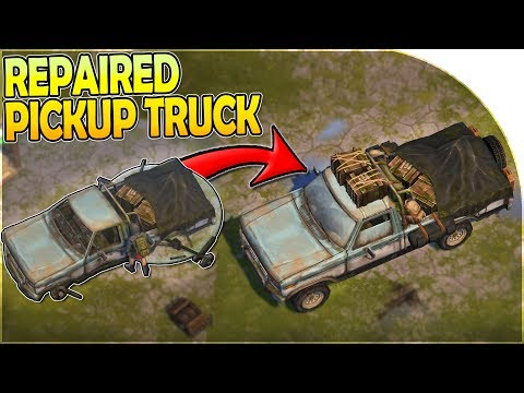 REPAIRING The PICKUP TRUCK = NEW VEHICLE (OUTPOST Transportation)- Last Day On Earth Survival 1.11.5