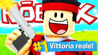REAL VITTORY WITH THE FIRST CECCHINO!! Fortnite on Roblox ITA
