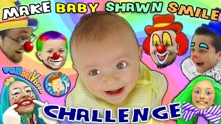 make the baby smile challenge w cutie pie shawn funnel vision family fun