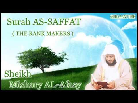 Mishary al Afasy Surah As Saffat with audio english translation