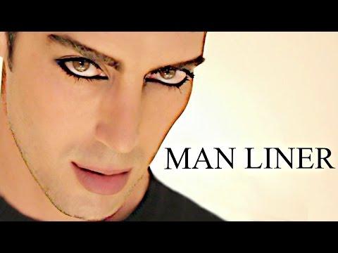 MANLINER!!!!!!!! Mens eyeliner makeup tutorial!!!!