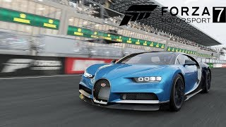 Forza 7 - NEW Bugatti Chiron Drive, Gameplay, Top Speed & Drag Racing