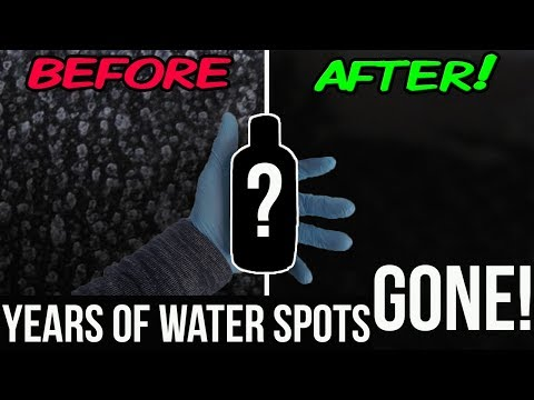 How To Remove Water Stains From Windows Permanently!